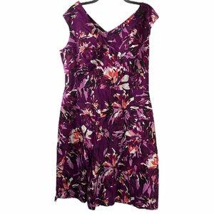 Woman's 16W Purple Sheath Dress